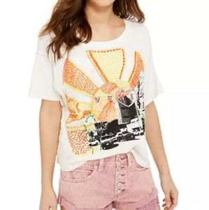 NWT Free People Road House Graphic T Shirt S